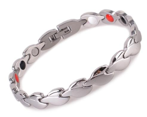 stainless steel titanium silver bracelet men fashion jewelry with germanium Healing Energy Gold Color Bio Magnetic Jewelry ion