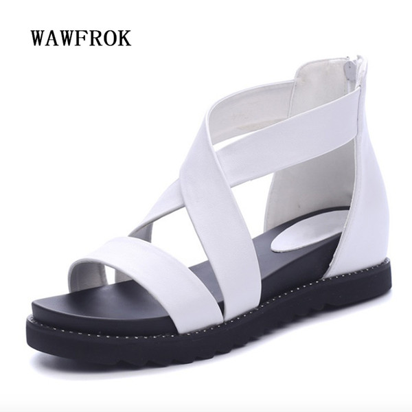 Wedges Frauen Sandalen 2017 Neue Mode Sommer Frauen Schuhe Höhe Zunehmende Rom Freizeitschuhe