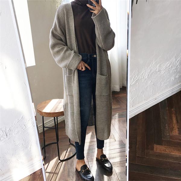 Mäntel Lose Großhandel Wulana Trench Lange Strick Art Wolljacke Mantel Weibliche Mode Beiläufig Trenchcoat Pullover Koreanischen Pullover Von Frauen vNn0mw8O