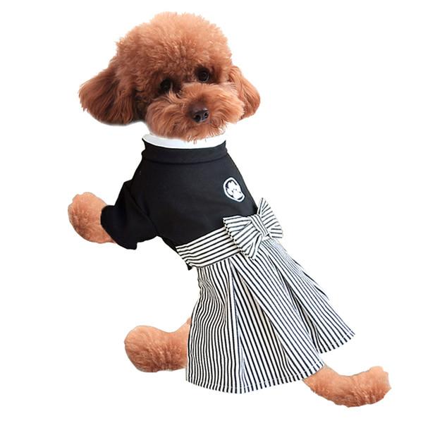 Elegant style four leg small dog leisure clothing dress ,pet puppy kimono skirt 2pieces suit by DHL
