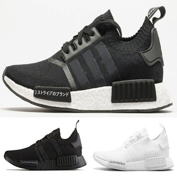 2018 NMD Runner R1 pk japan Triple Black white Men Women Running Shoes Sneaker nmd Runner Primeknit mens trainers sports Shoes size 36-45