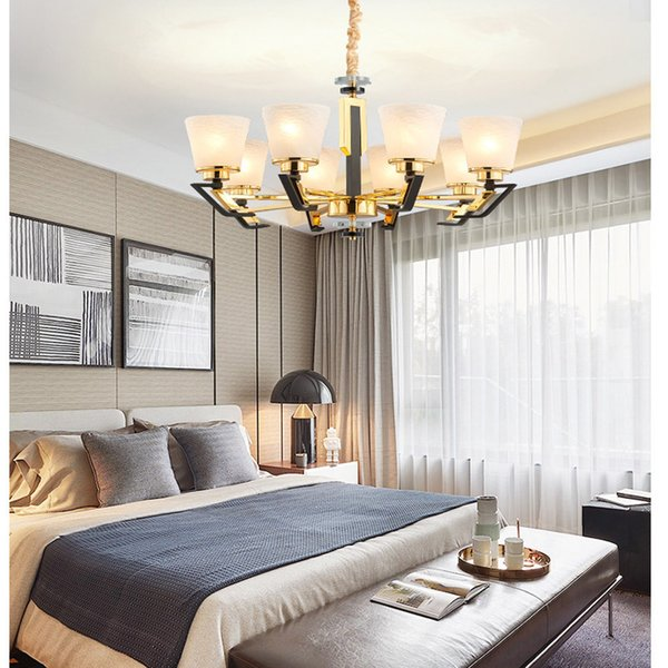 Großhandel Gold Plated Edelstahl Moderne Led Kronleuchter Wohnzimmer ...