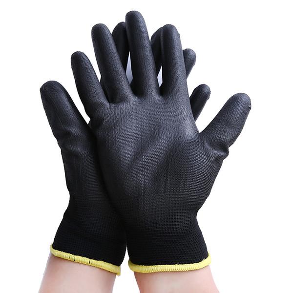 12pairs Black Nylon & PU palm coated electronic Anti-static Gloves With PU AntiStatic Work Glove