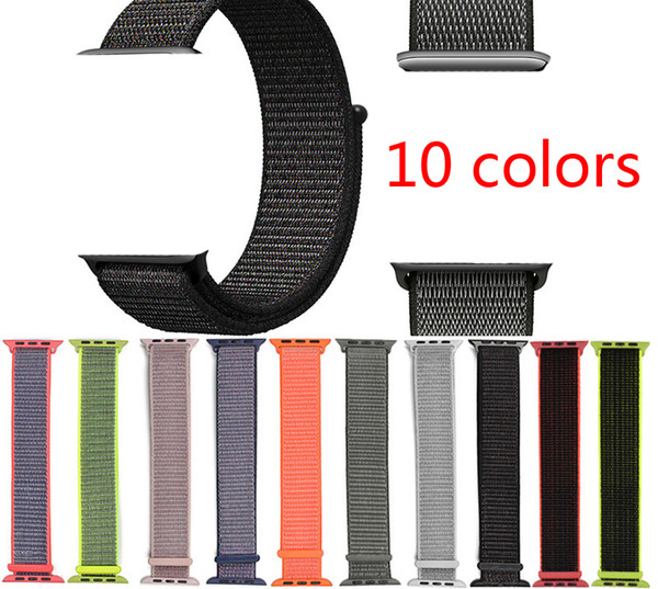 sport woven nylon loop strap for brand watch band wrist braclet belt fabric nylon band for watch1/2/3 series 38mm 42mm Strap