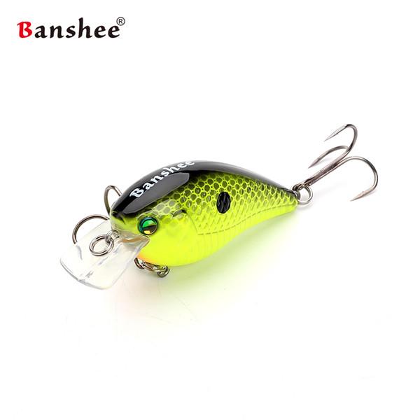 Banshee 60mm 12g Blitz Crank Floating Fishing Lure VC03 Rattle Sound Wobbler Square Bill Artificial Medium Diving Crankbaits Y18100906