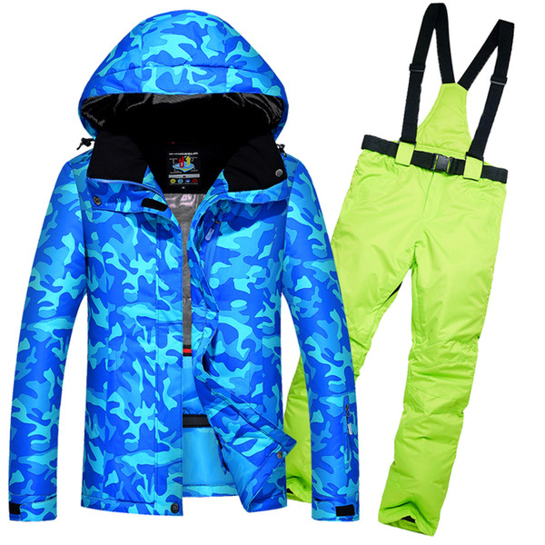 High Quality Women's Skiing Suits Waterproof Windproof Thick Female Warm Ski Jacket Snow Pants Set Outdoor Women Skiing Clothes