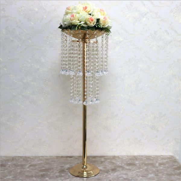 Acrilico da strada piombo centrotavola da sposa centrotavola da fiori Vaso Stand perlina 32