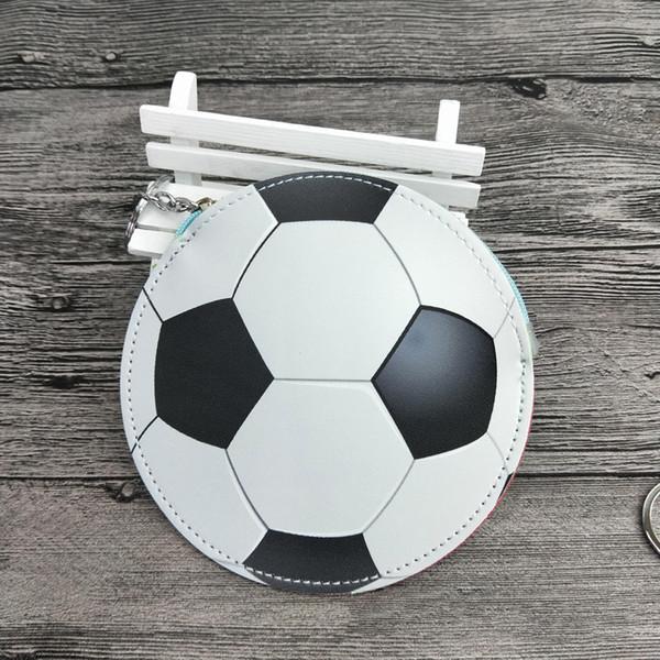 Football Small cash Bags Boys Girls Designer Coin Purse PU soccer baseball shape Bag wallet With Key Chain 13*13cm