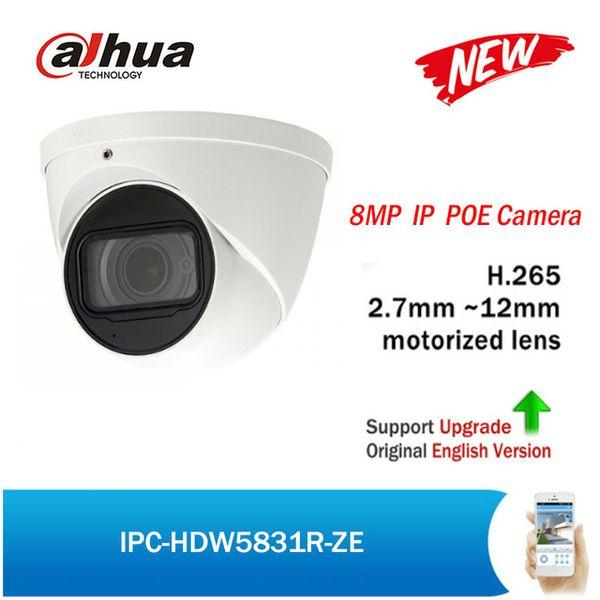 Dahua POE IP Camera 8MP IPC-HDW5831R-ZE 2.7-12mm motorized lens Built-in Mic Max50 IR IP67 H.265 Security Network CCTV Camera