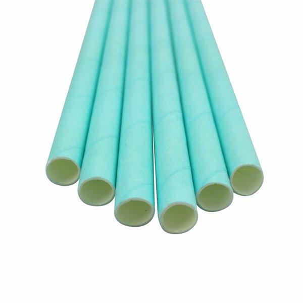 pajitas de papel azul claro