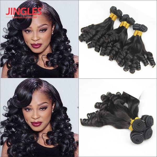 9A Grade Aunty Funnmi Curly Brazilian Remy Human Hair bundles Cuticle Aligned Funmi Bouncy Spiral Romance Curl Brazilian Virgin Hair Weaves