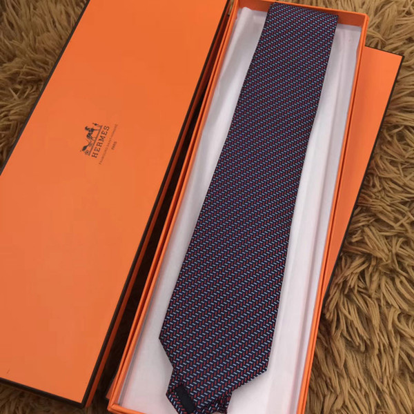 b84e6216e75ec 2018 new arrived Men Silk Ties Fashion Mens Neck Ties luxury 9 Style brand  letter tie with box Business Leisure for gifts free H80016