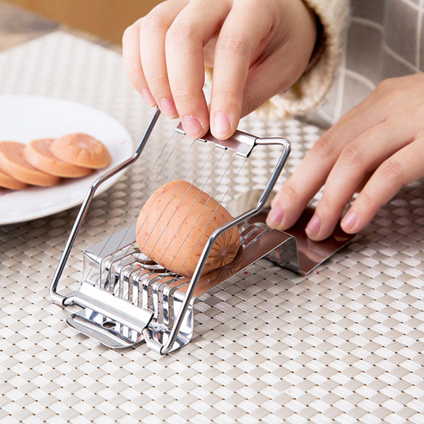 Multi function Kitchen Slicer Egg Ham Sausage Banana Fruit cutter Stainless Steel Cutting Cooking Tools Food Split Luncheon Meat Slicer