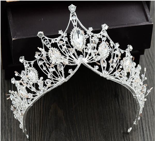 Europe United States Princess Diamond Handmade Crown Silver Creative Bridal Crown Wedding Hair Accessories Atmosphere Evening Gown Photo S