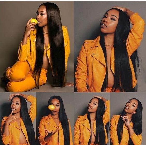 Straight Human Hair Bundles with Closure Brazilian Virgin Human Hair Bundles with 4*4 Lace Closure Natural Color Human Hair Extensions