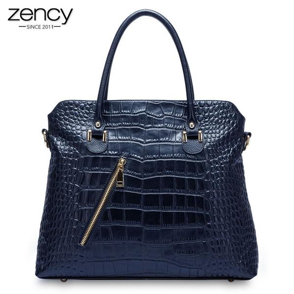 2018 New Arrival Genuine leather Women casual totes Lady Alligator handbag shoulder bag for female classic dress Messenger pack