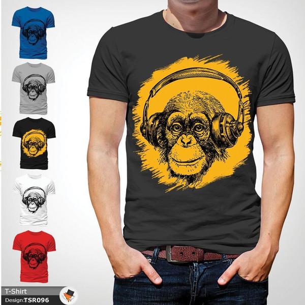 Auriculares Chimp DJ Techno House Music Rave DnB Monkey camiseta Dark Grey! Divertido envío gratis Unisex Casual camiseta de regalo