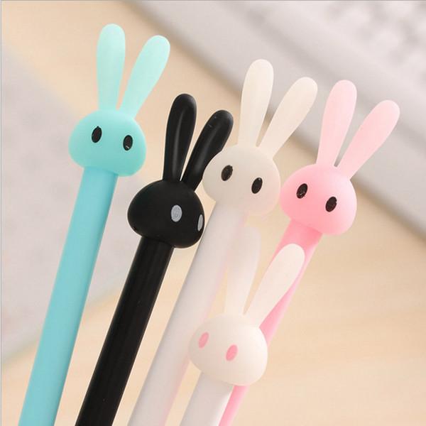 0.5mm Cute Kawaii Plastic Gel Pen Cartoon Rabbit Pen Lovely Neutral Pens For Writing Kids Gift Korean Stationery School Supplies