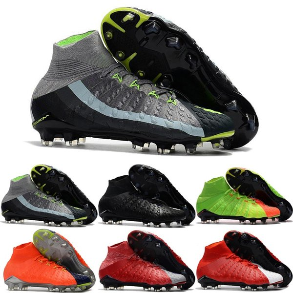 Best Quality Hypervenom Phantom III DF FG 3D Outdoor Soccer Cleats Trainers Football FG Mens Football Boots Soccer Shoes For Sale