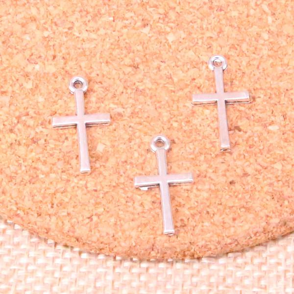 160 pcs Antique prata cruz encantos Pingente Fit Pulseiras Colar DIY Jóias De Metal Fazendo 18 * 10mm