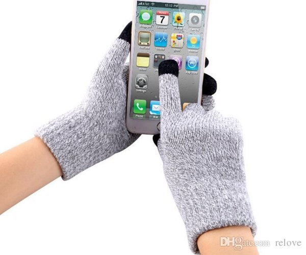 Knit iwarm Anti-skid Touch Capacity Screen Gloves Warm Winter Driving Gloves Touchscreen For Cell phone ipad iPhone Tablet