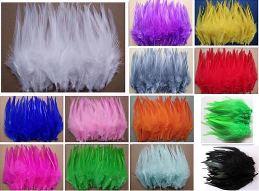 Atacado 500 pçs / lote alta qualidade faisão 4-5 polegada / 8-13 cm cor Natural e Penas Tingidas DIY Acessórios Jóias JM-01