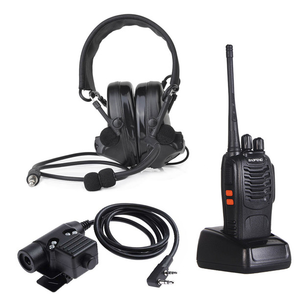 Z-TAC z Tactical Aviation headphone zComtac II Headset Hunting Earphone with U94 PTT and Walkie Talkie Set Sale Outdoor Sports Communication