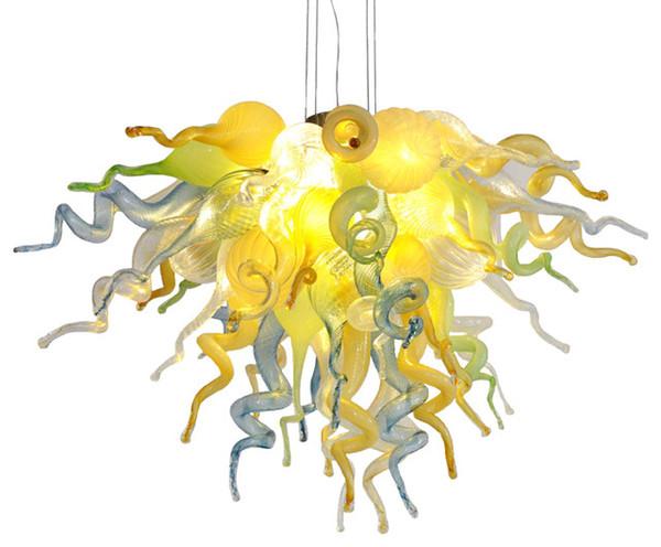 Modern Çok Renkli Kristal Avize Işık LED Işık Kaynağı ile Yemek Odası Asılı Avize Kristal LED Işık