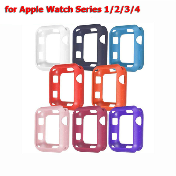 Bumper Case for Apple Watch 38mm 40mm 42mm 44mm Soft TPU Watch Protective Cover Case for iWatch Series 1/2/3/4