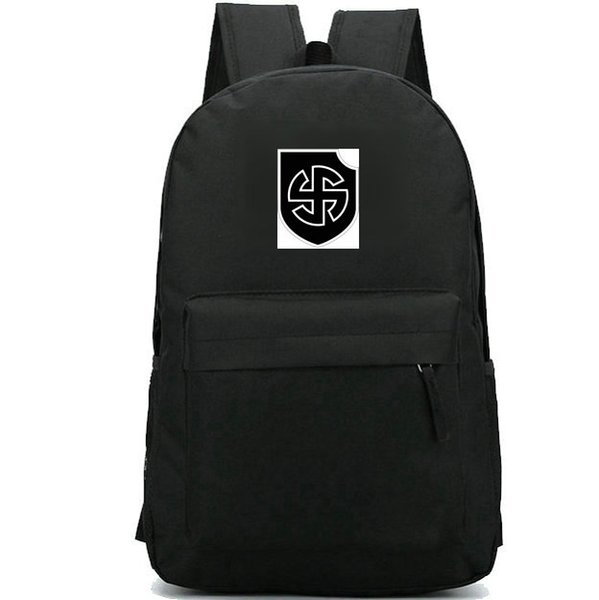 Viking backpack Strong division daypack Germany army schoolbag Cool badge rucksack Sport school bag Outdoor day pack