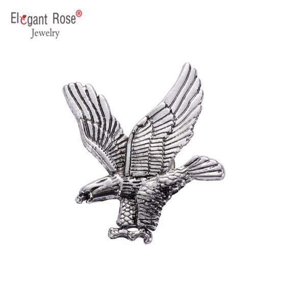 2017 Broches Européen Américain De La Mode Pin Hibou Broches Personnalisé Rétro Gilet Argent Eagle Badge Costume Broche X262