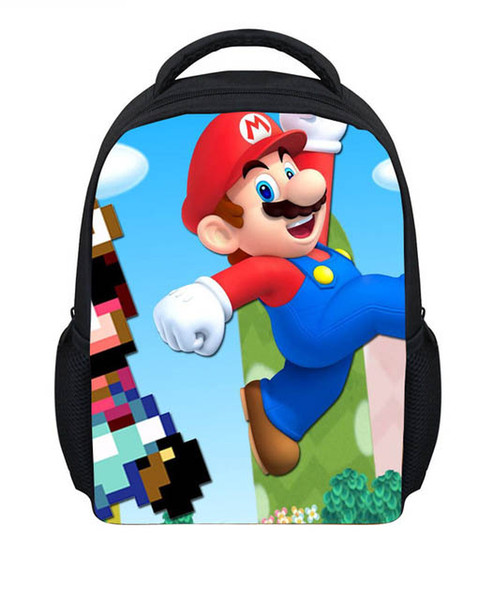 Noisydesigns Super Mario Print School Bags Anime Game Children School BackpacKids Fashion Bagpack Preschoo Baby Boys
