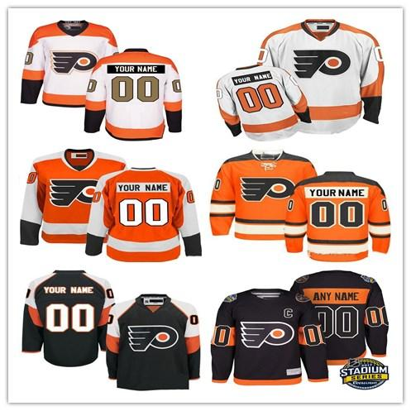 2efe62777f0 Customized Men's Philadelphia Flyers Jerseys Custom Stitched Any Name Any  Number Ice Hockey Jersey,Authentic