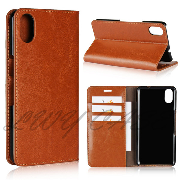 For Android One S4 S3 S2 S1 X3 X1 100% Luxury Genuine Leather Case Retro Wallet Flip Cover With Card Slots Stand Holder