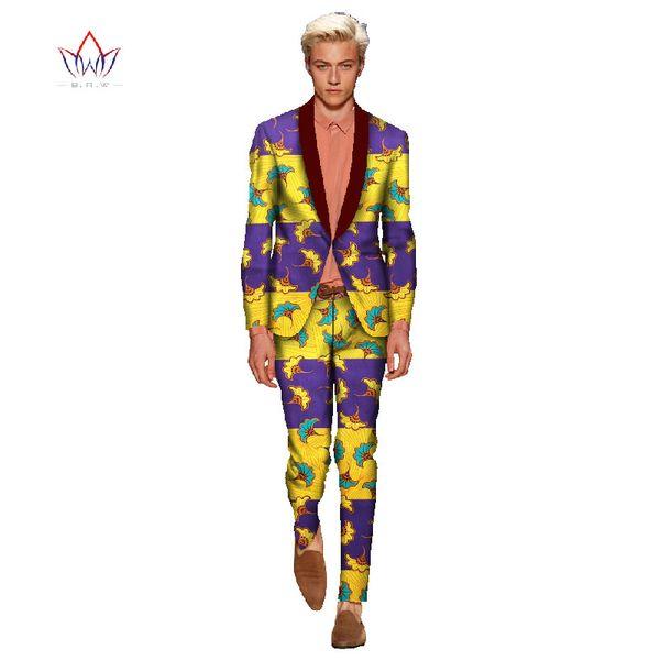 African Clothes for Men Linen Suits Men Plus Size 6XL 2 Pieces(Jacket+Pant)Slim Fit Casual Tuxedo Suit Male 2017 New Look WYN115