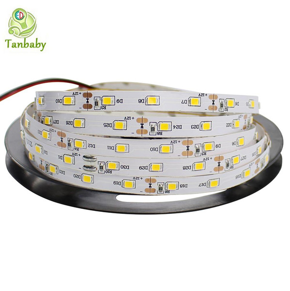 Tanbaby led strip SMD 3528 DC12V 60 LED/M flexible 2835 Rope Non-waterproof indoor decortion string light 5M/reel
