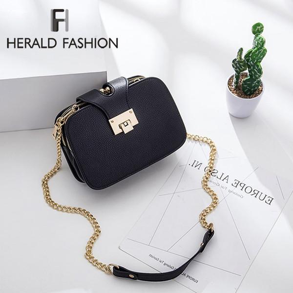 76e92d617c3e Herald Fashion Small Shoulder Bag for Women Chain Strap Messenger Bags  Ladies Retro Leather Handbag purse