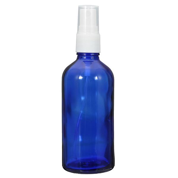 Novo 1 PCS 100 ML Garrafas De Atomizador De Vidro Azul Perfume Óleo Essencial Frasco de Spray de Água Recipientes Cosméticos Com Cabeça de Pulverização Da Névoa