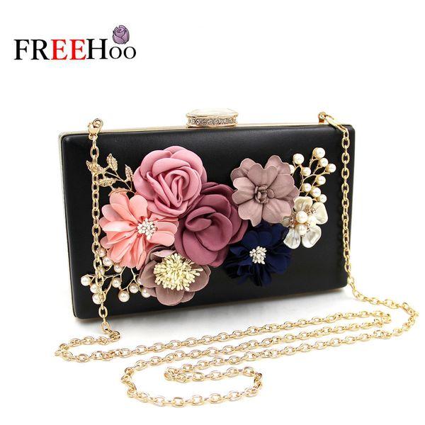 New flower dinner wrapped perle bestickt handtasche eingelegten diamant Perle abend pack Party Lady Bag Minaudiere