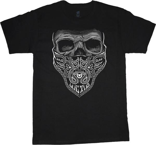 Big and Tall t-shirts for men Bandana Skull decal design tee big man clothing