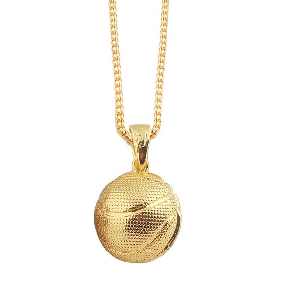 Basketball Rugby Necklace Pendant Men Women Silver Gold Jewelry Chain Unisex Special Design Sports Jewelry Pendant