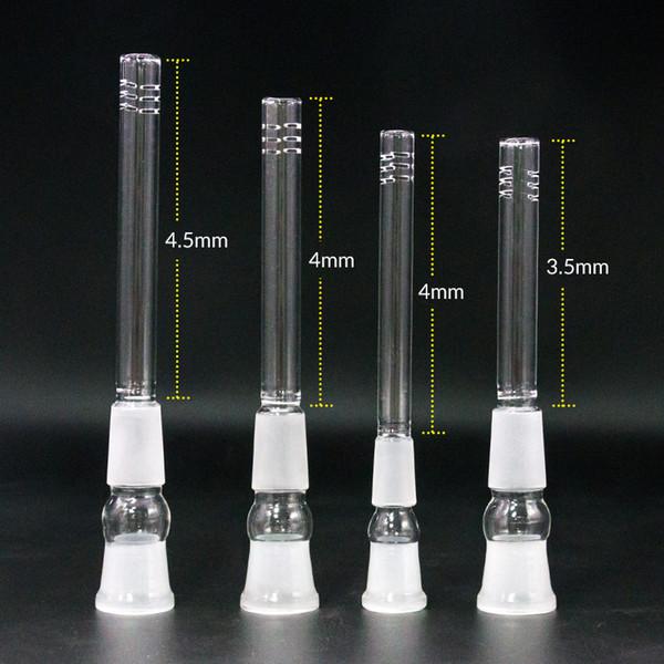 Atacado downstem de vidro 14mm 18mm a 18mm, 14.4mm a 18.8mm Masculino Feminino vidro para baixo difusor adaptador haste para cachimbos de água bongs