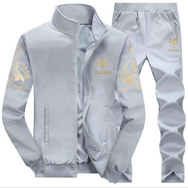 Brand New Men Set Fashion Autumn Spring Sporting Suit Sweatshirt +Sweatpants 2 Pieces Mens Clothing Slim Male Tracksuit