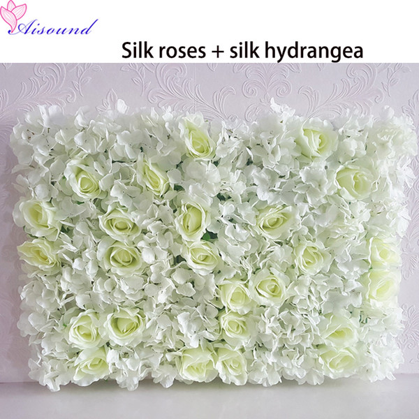 2pcs Artificial Silk Flower Panel Wedding Wall Background lawn/pillar Road Lead Flowers Arrangement Home Marriage decoration
