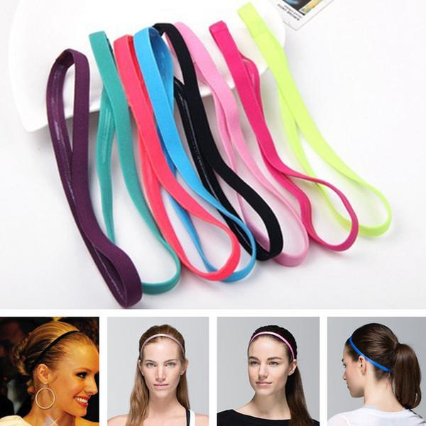 cheap Headbands Hair band popular elastic rope Candy-colored sports yoga Running headband football non-slip hair accessories 2068