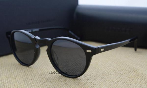 3443265bd Venda quente top quality oliver peoples OV5186 óculos de sol 47mm quadro  Homens e mulheres do vintage Polarized lens designer de óculos de sol com  caixa ...