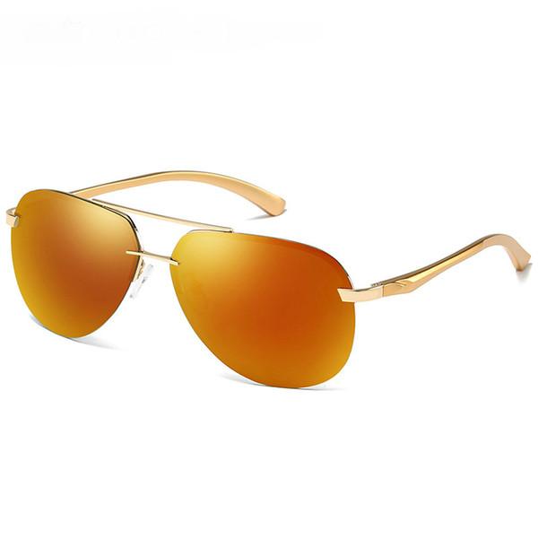 Golden frame+orange lenses