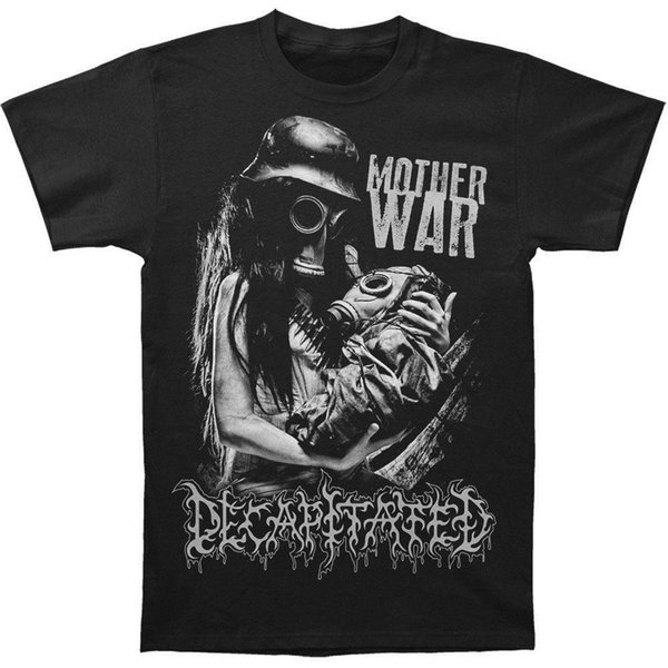 Dekapitated erkek Anne Savaş T-shirt Siyah Rockabilia Hip Hop Tee T Gömlek üst tee Pamuk Yüksekliği Kaliteli Adam T Gömlek