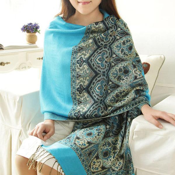 Hot New Fashion Pashmina Cashmere Womens Scarves Paisley Stole Shawl Wrap Scarf