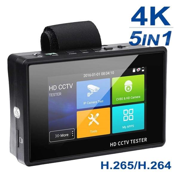 4inch five in one 4K H.265/H.264 IP/8MP TVI/5MP AHD/4MP CVI/Analog CVBS CCTV Tester Monitor Support PTZ Wifi Onvif